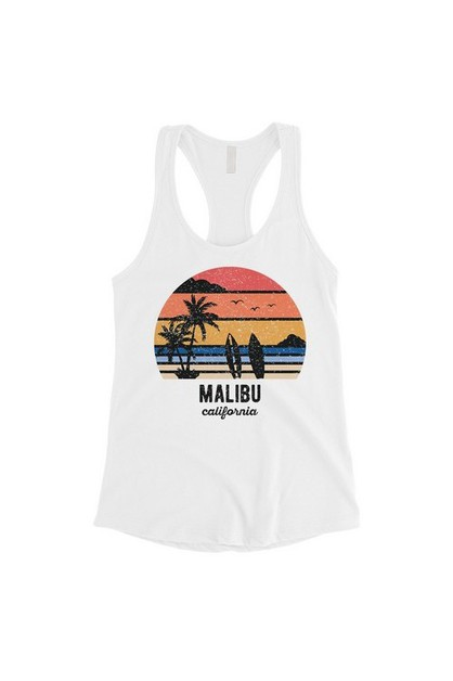 Beach-Malibu Tank Top - orangeshine.com