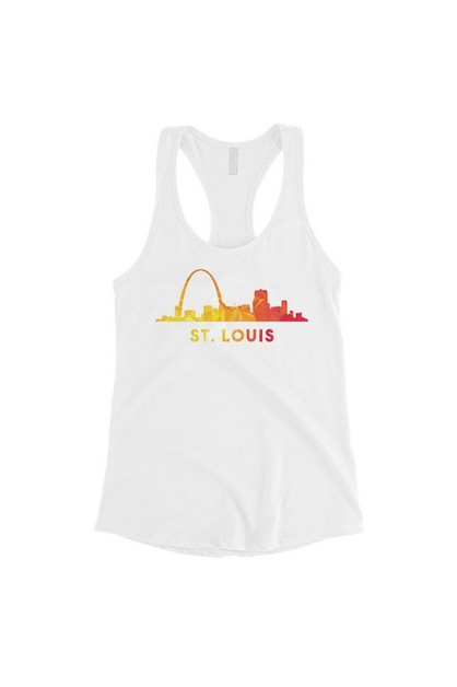 Polygon Skyline-St Louis Tank Top - orangeshine.com