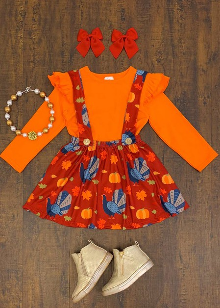 Turkey Suspender Skirt Set - orangeshine.com