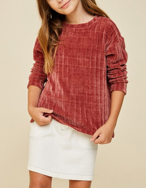 Corduroy Knit Sweater Top - orangeshine.com