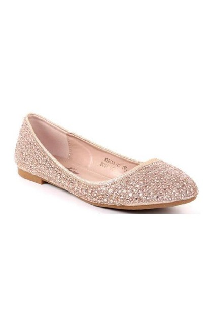 Rhinestone Pointed Toe Casual Loafer - orangeshine.com