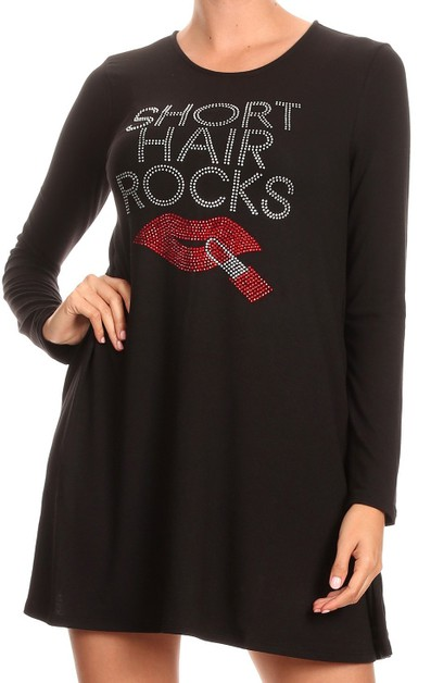 SHORT HAIR ROCK Tunic - orangeshine.com
