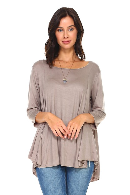 Flowy Tunic - Long Sleeve - orangeshine.com