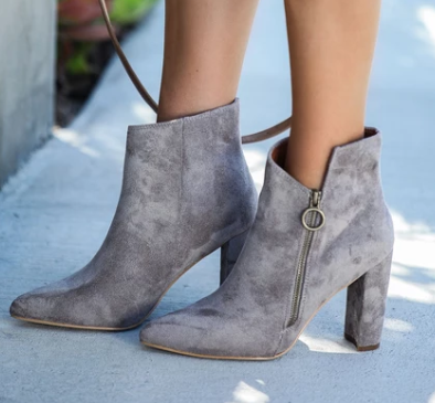 side cut side zip heel booties - orangeshine.com