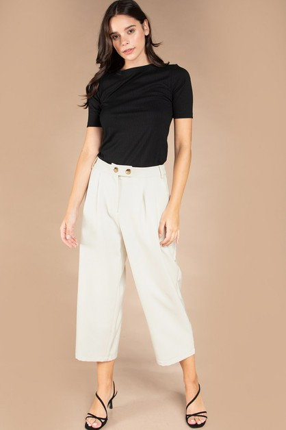 CULOTTE STRAIGHT LEGGED PANTS  - orangeshine.com
