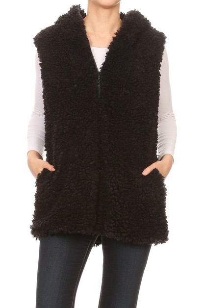 Faux Fur Plush Jackets Coats Winter  - orangeshine.com