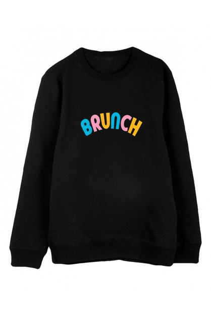 BRUNCH CREWNECK SWEATER - orangeshine.com