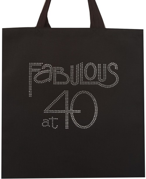Fabulous at 40 Clear Rhinestone Tote - orangeshine.com