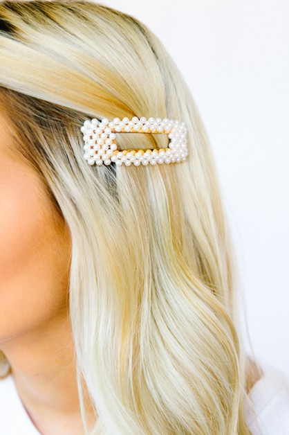 Ice Queen Pearl Studded Barrettes - orangeshine.com