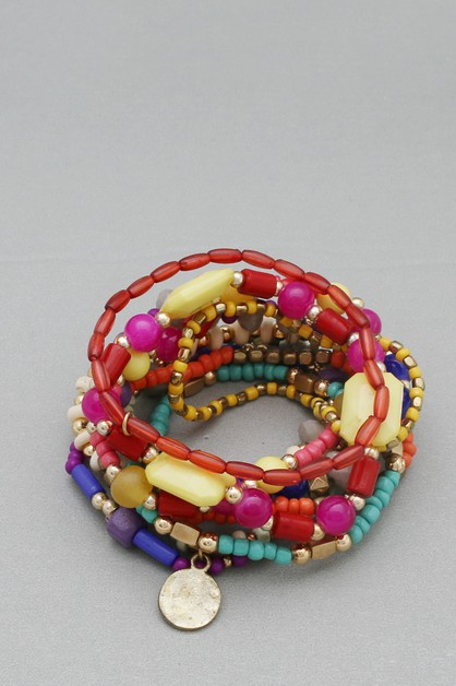 MULTI  LINE STRETCH BRACELET - orangeshine.com