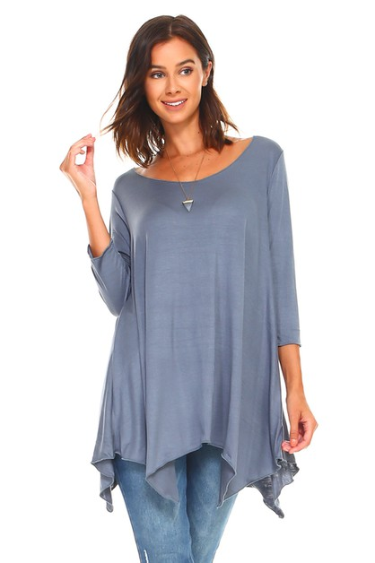 Handkerchief Swing Tunic - Plus Size - orangeshine.com
