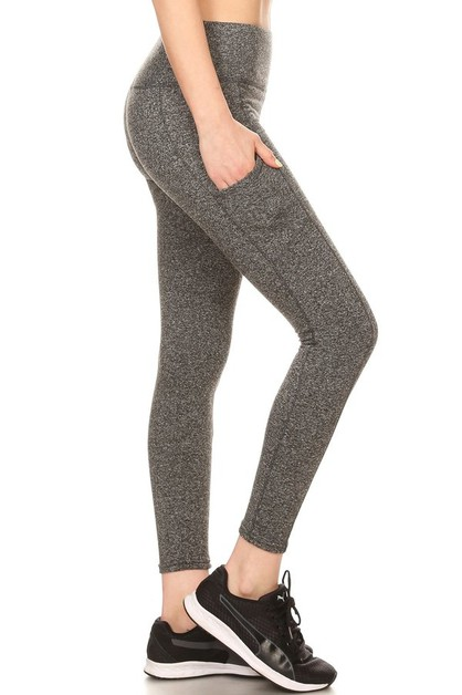 Fleece Sports Leggings Phone Pockets - orangeshine.com