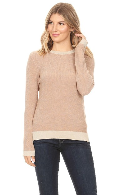 FITTED LONG SLEEVE SLITS SWEATER - orangeshine.com