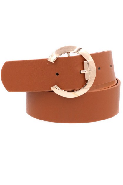 Faux Leather Buckle Belt - orangeshine.com