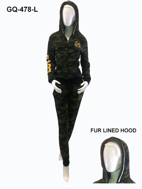 LADIES CAMO FLEECE SET - orangeshine.com