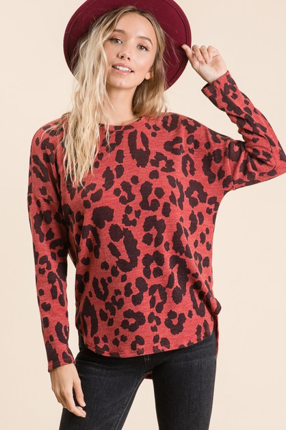 LONG SLEEVE ANIMAL TUNIC  - orangeshine.com