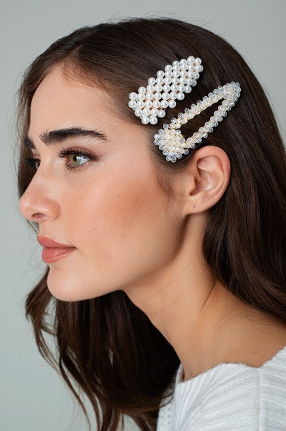 Pearl Decorated Hair Pin - orangeshine.com