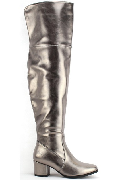 METALLIC knee high boots - orangeshine.com
