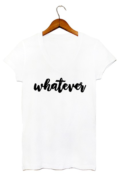 WHATEVER V NECK TOP - orangeshine.com