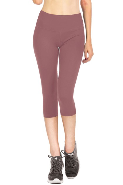Solid Capri leggings - orangeshine.com