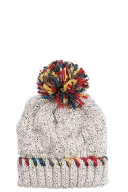 THREAD POMPOM CUTE BEANIE HAT - orangeshine.com