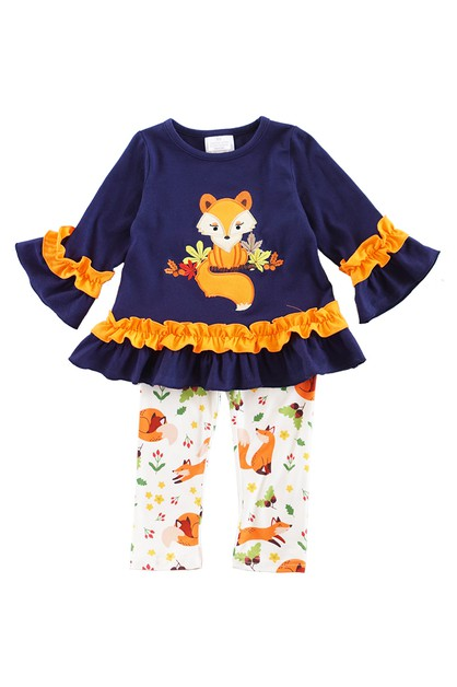 Little fox 2 pcs pants set - orangeshine.com