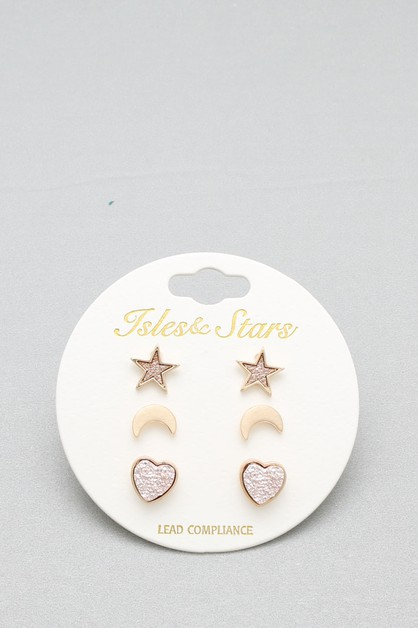 POST  EARRING 3PCS SET  - orangeshine.com