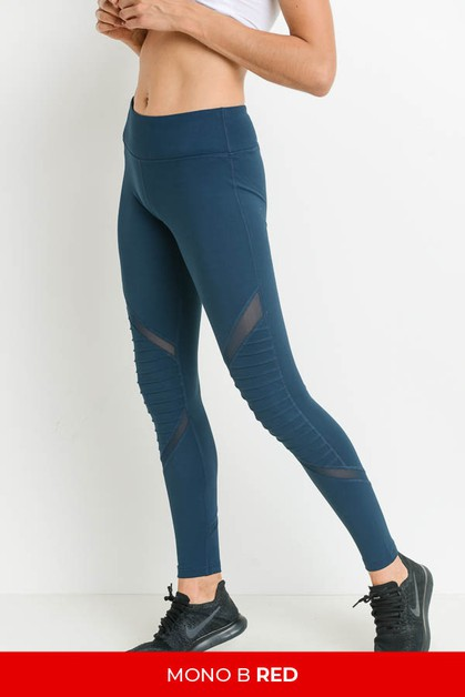 Moto Mesh Full Leggings - orangeshine.com