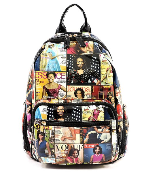 Magazine Cover Collage Backpack - orangeshine.com
