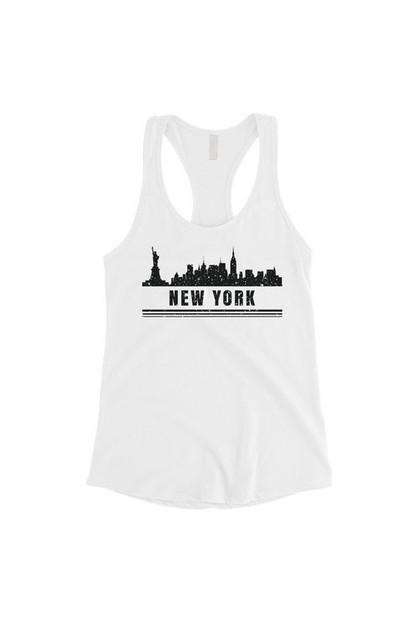 Skyline-New York Tank Top - orangeshine.com