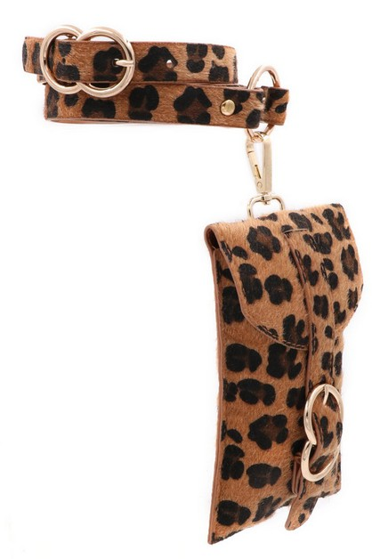 Leopard Print Belt Bag - orangeshine.com