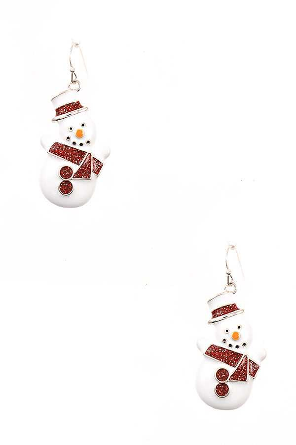 SNOWMAN DANGLE EARRING - orangeshine.com