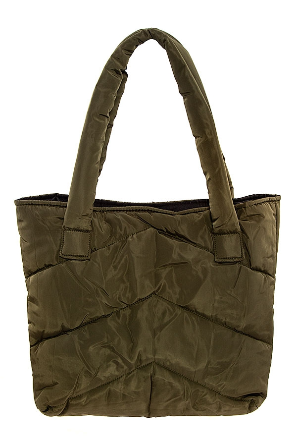 LINE STITCHED TOTE BAG  - orangeshine.com