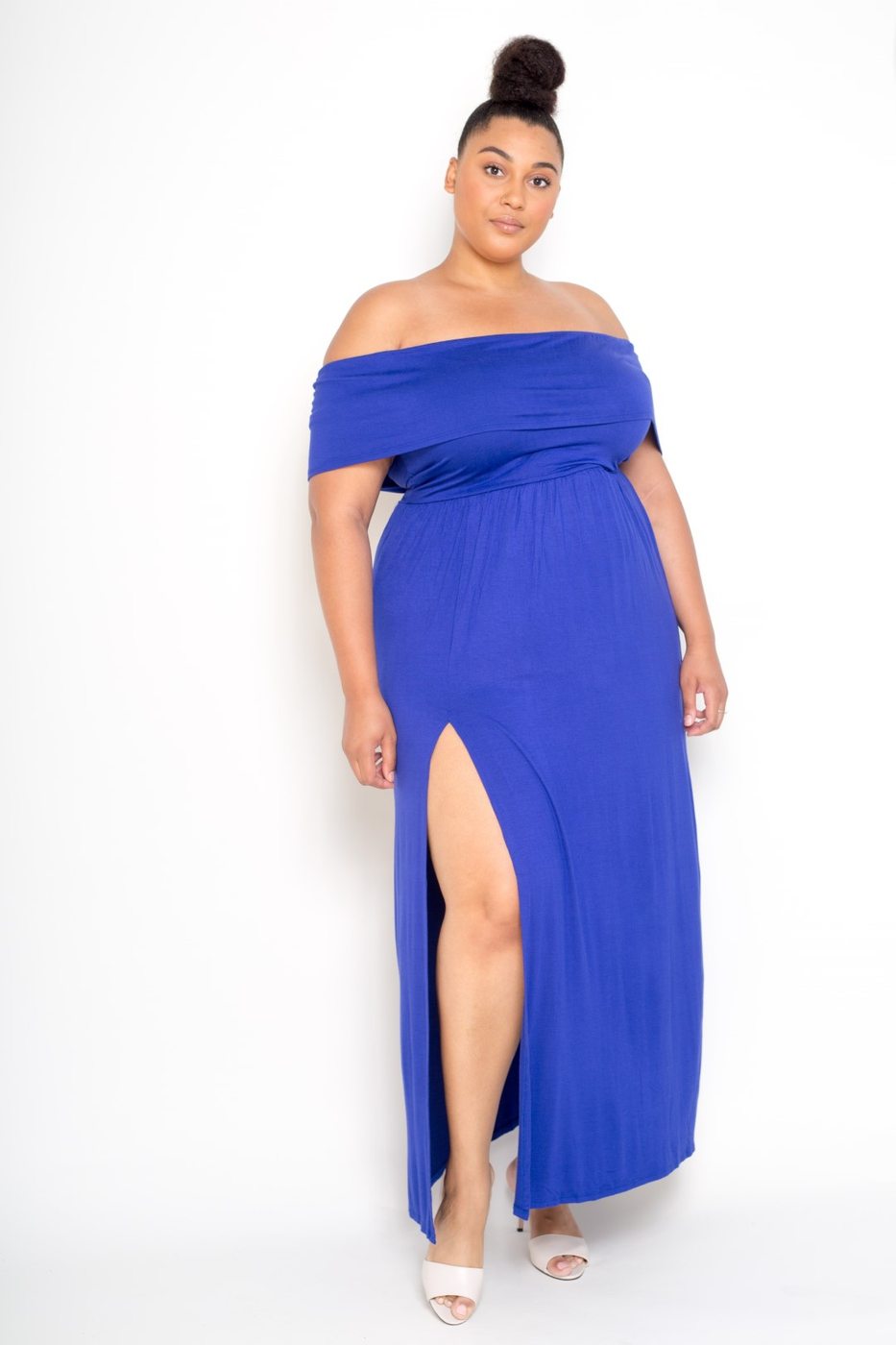 Plus Size Flared Ruffle Hem Dress - orangeshine.com
