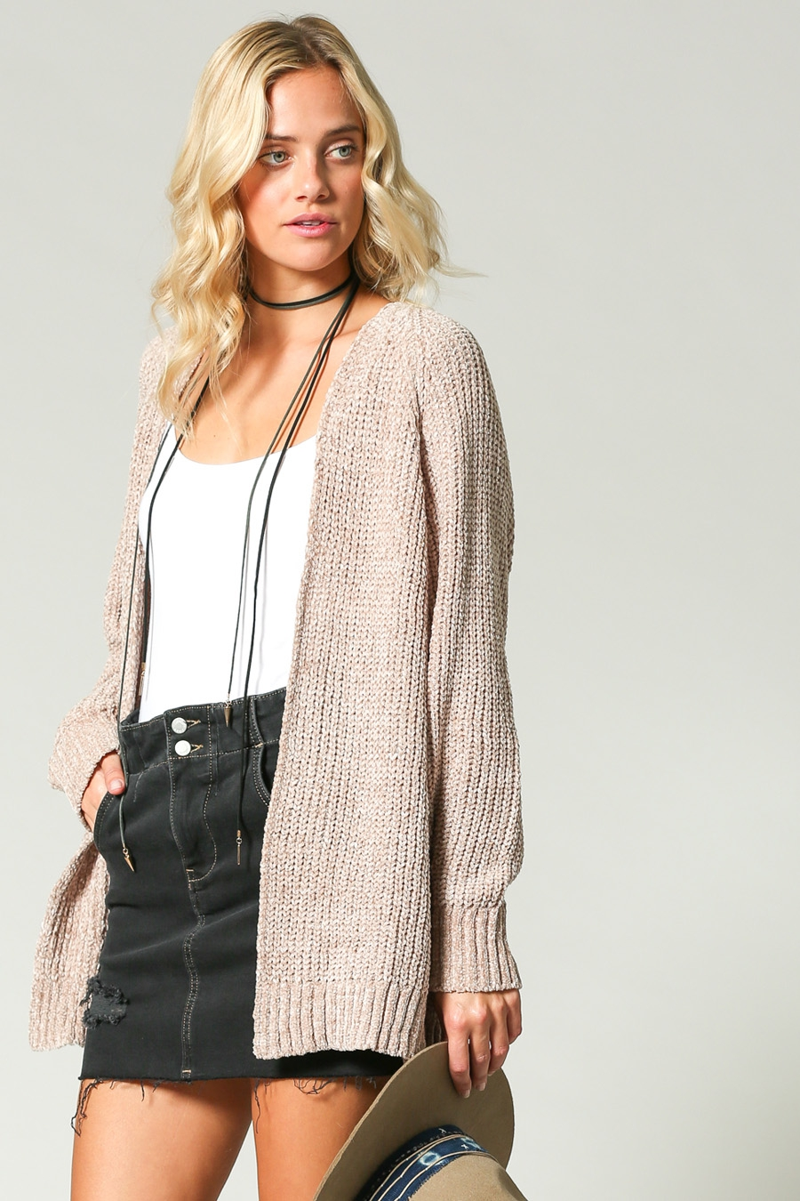 SUPER SOFT OPEN FRONT CARDIGAN - orangeshine.com