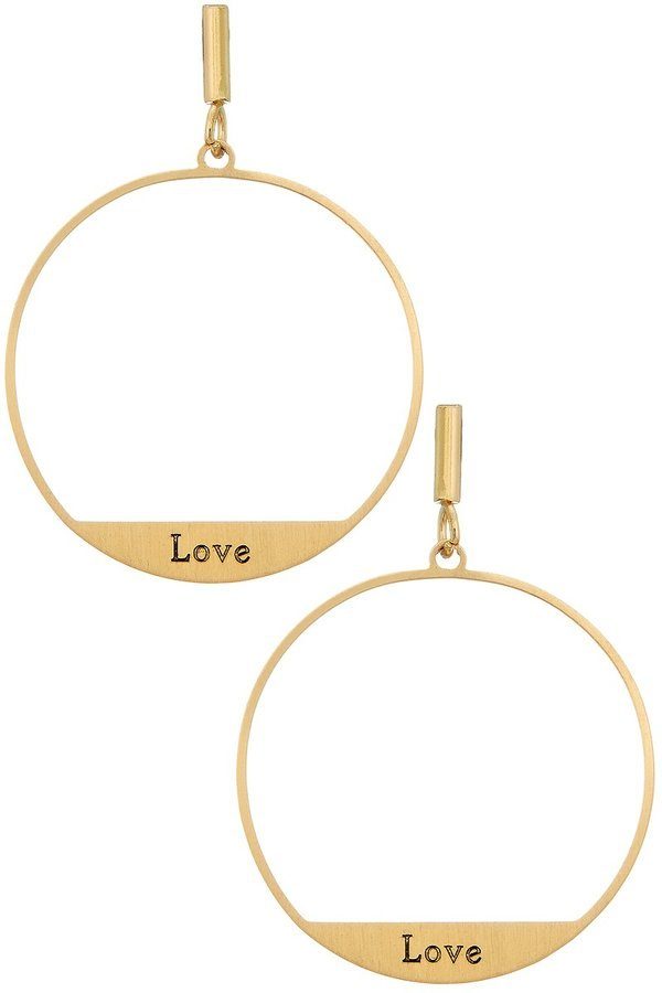 Open circle hoop earrings - orangeshine.com