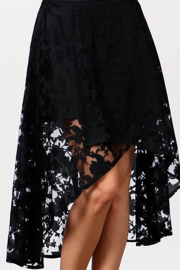 Asymmetrical Over Wrap High-Low Lace - orangeshine.com