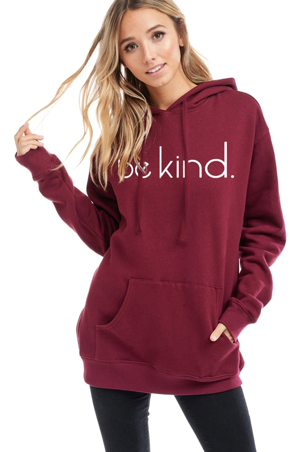BE KIND GRAPHIC HOODIE TOP - orangeshine.com