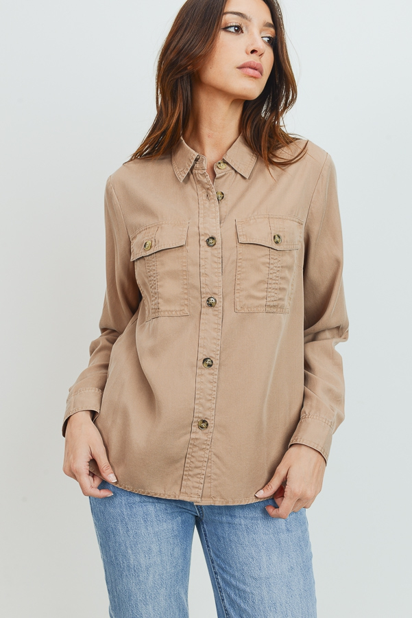 BUTTON DOWN SHIRTS WITH POCKETS - orangeshine.com