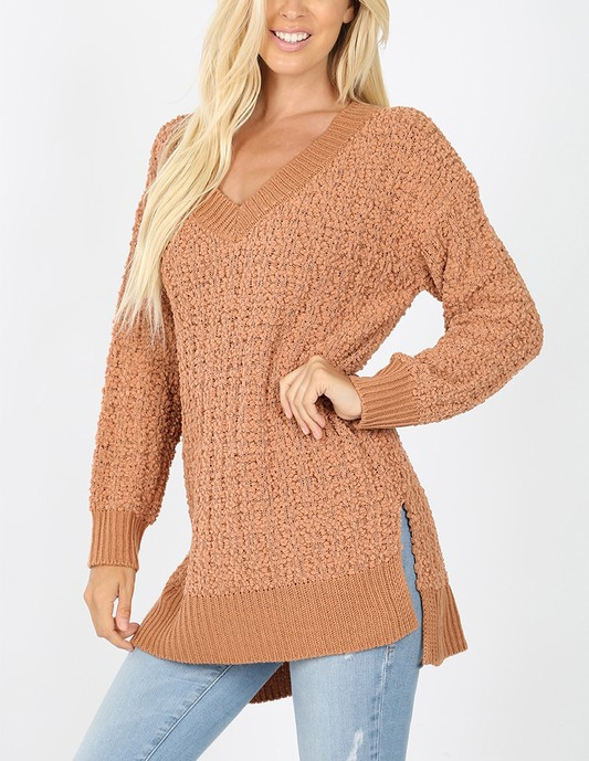 CABLE POPCORN SWEATER - orangeshine.com