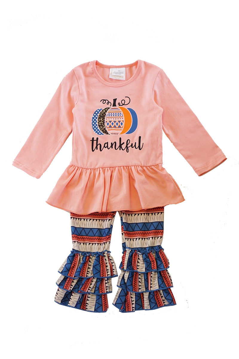 Thankful pumpkin with ruffle pants - orangeshine.com