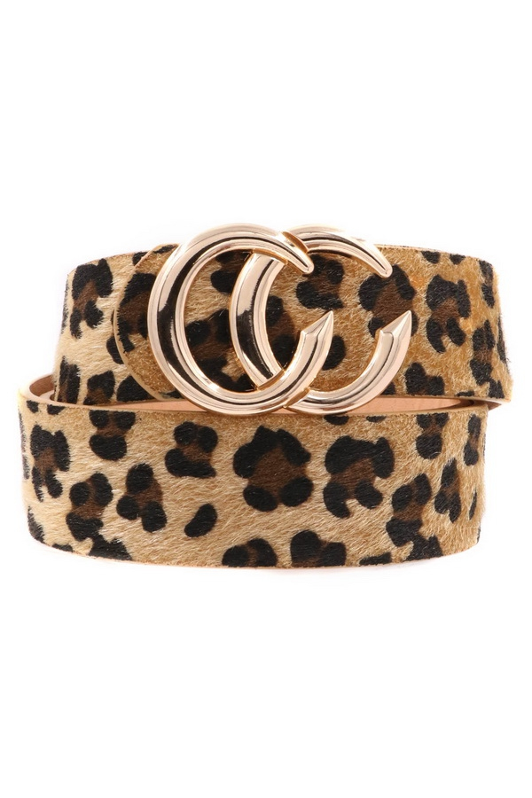 Leopard CC Buckle Belt - orangeshine.com