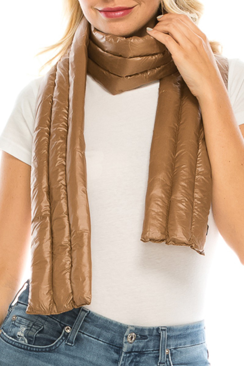LIGHTLY PADDED LONG SCARF - orangeshine.com