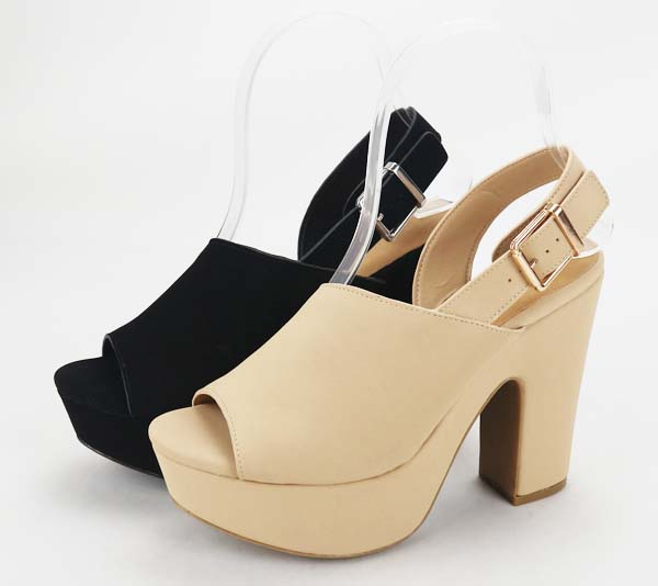 JP Chunky High Heel Platform Sandals - orangeshine.com