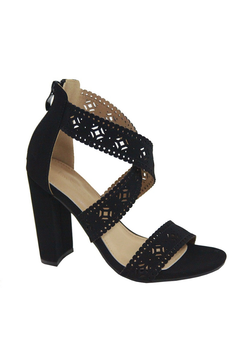 WOMEN`S CUTOUT BLOCK SANDALS - orangeshine.com