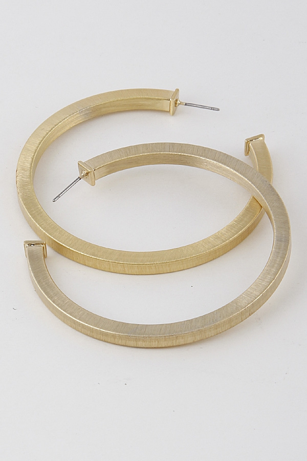 Simple Hoop Earrings - orangeshine.com