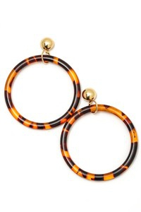 Round Circle Loop Acetate Dangle Ear - orangeshine.com