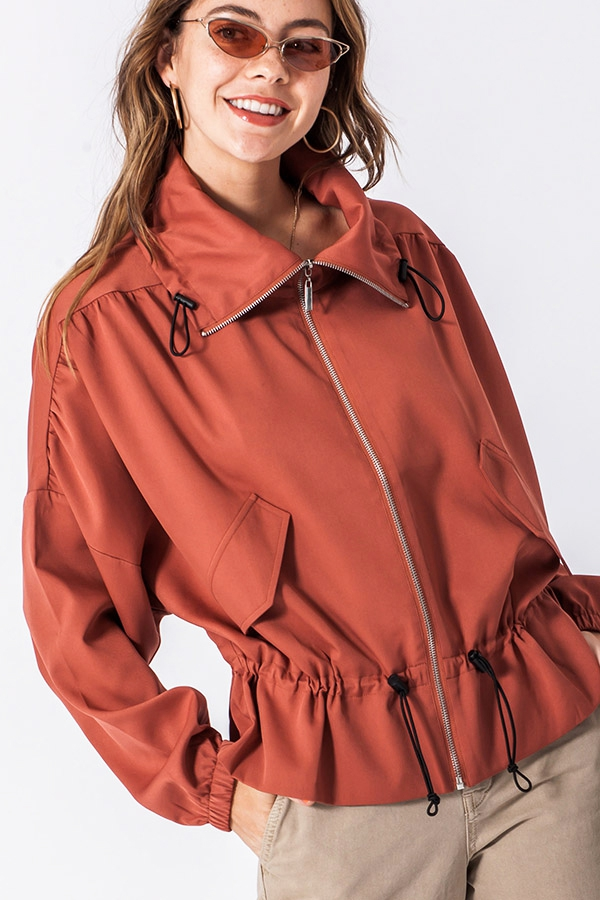LIGHTWEIGHT ZIP UP JACKET - orangeshine.com