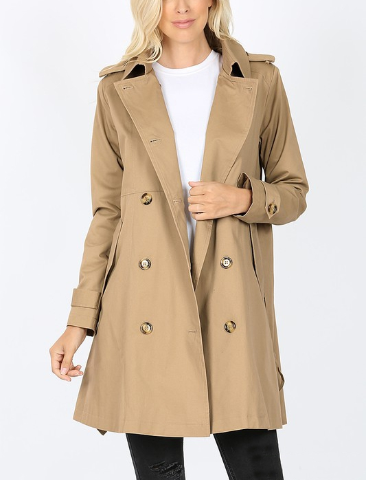 DOUBLE BREASTED TRENCH COAT - orangeshine.com