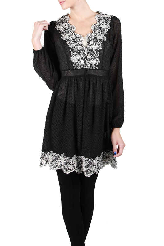 RJ4930 LONG SLEEVE DRESS FLORAL - orangeshine.com
